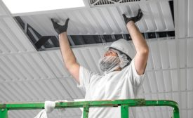 Thermoformed panels are lightweight, robust, and easy to install. They do not release fibers or other contaminants when handled to service above-ceiling equipment.