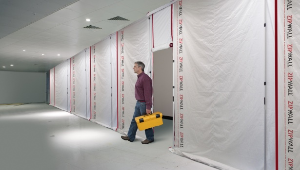 Reusable Dust Barrier Panel System 2015 04 29 Walls