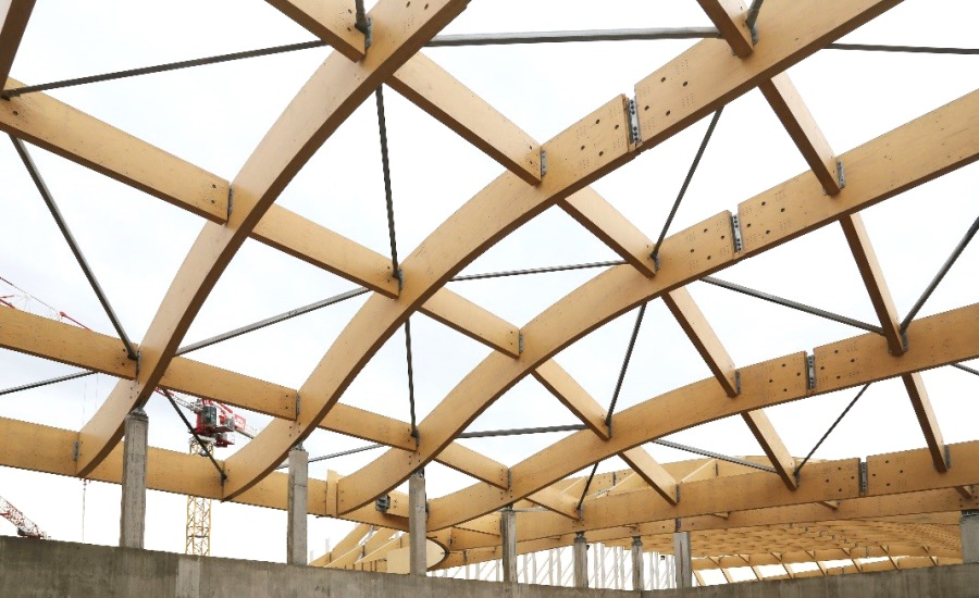 Curved Lvl Beams Timber Canopies Timber Extensions