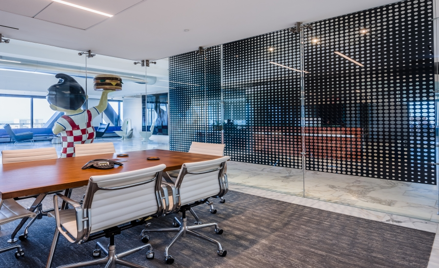 Laser Cut Metal Partition Perfection at the Maximus Office | 2017-10