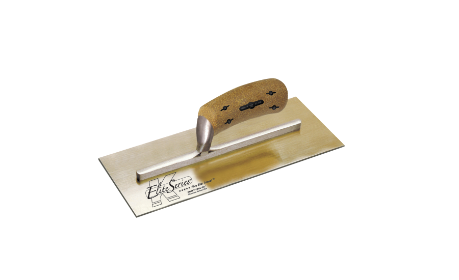 Golden Stainless Steel Plaster Trowel with New Cork Handle