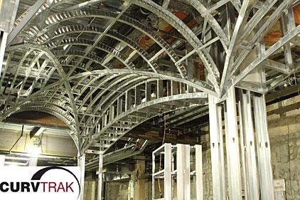 drywall framing radius system curv trak - Drywall Framing