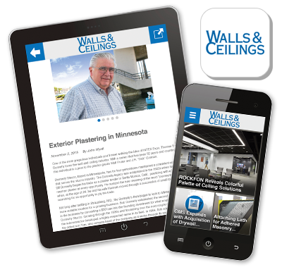 iPad, IPhone, Walls and Ceilings industry app