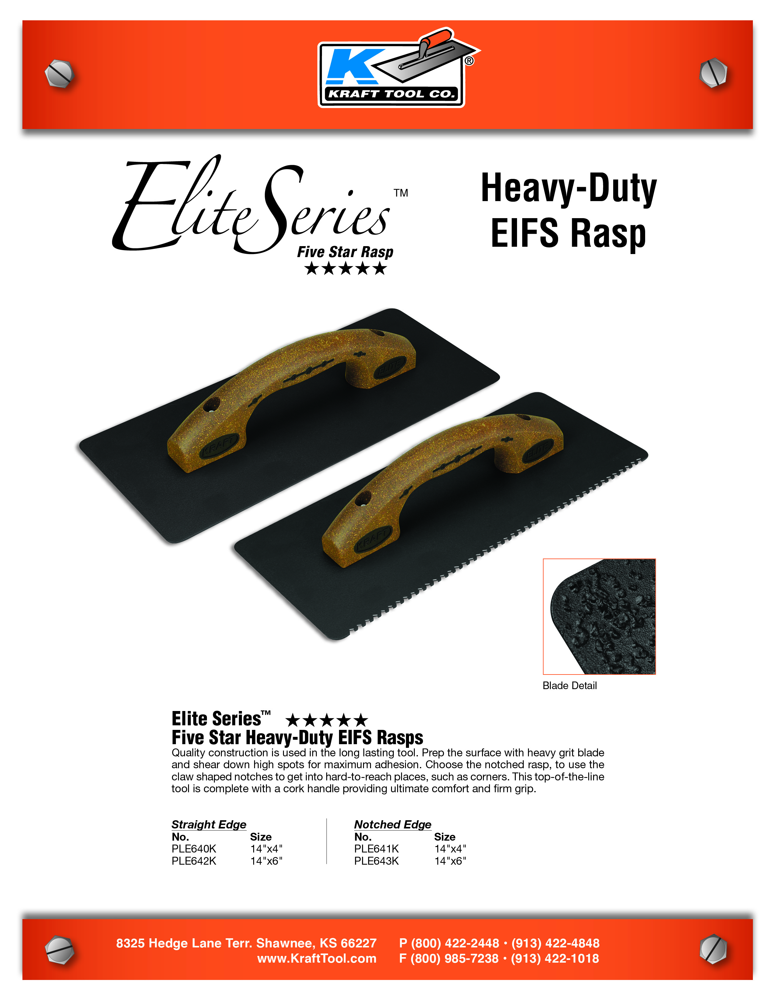 Heavy-Duty EIFS Rasp