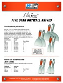 FIVE STAR DRYWALL KNIVES