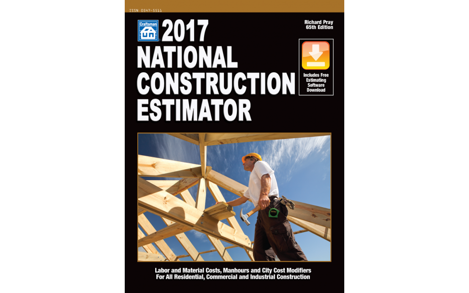 2017 national construction estimator walls ceilings online for Online construction cost estimator