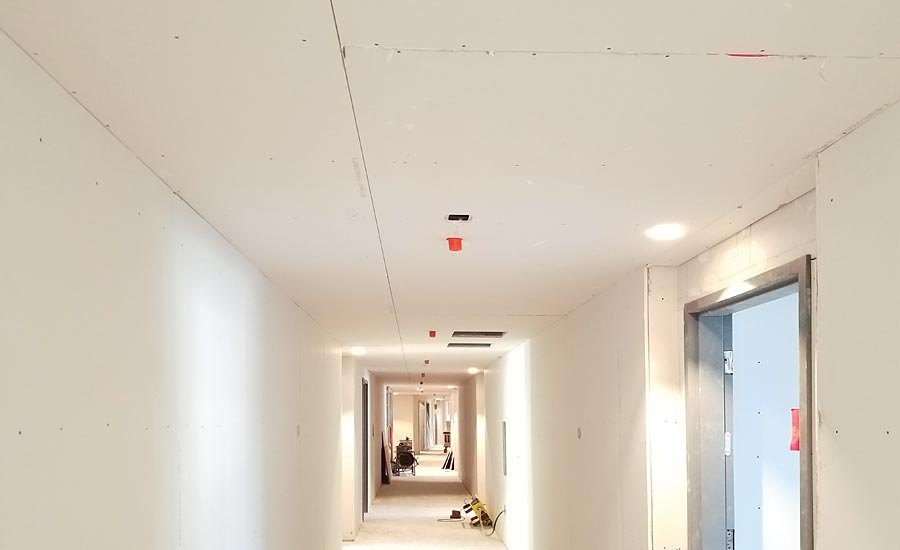 Plasterboard ceiling control joint theteenline