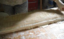 Gypsum plaster molding