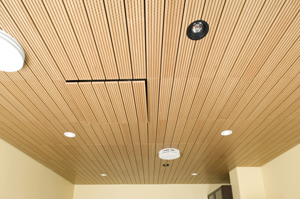 Natural Wood Veneered Ceiling Panels Certainteed Ceilings