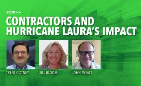 Contractors and Hurricane Laura's impact